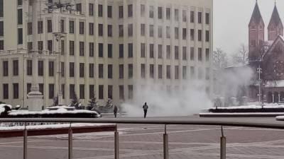 В центре Минска, предположительно, совершен акт самосожжения