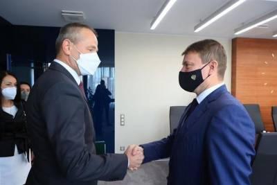 Со своим коллегой из словацкой Жилины встретился мэр Красноярска