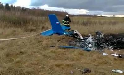 СК показал видео момента крушения самолета в Подмосковье