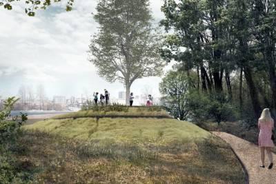 Каким будет парк у ледового дворца в Новосибирске. Эскизы