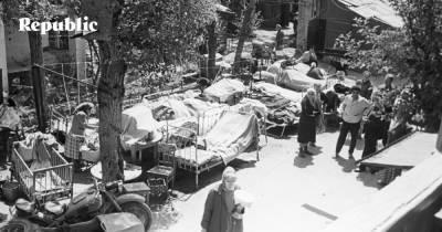 Быт и нравы комсомольских отрядов на восстановлении Ташкента после землетрясения 1966 года.