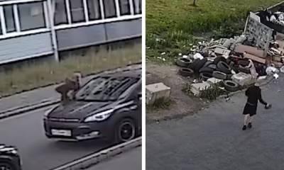 Неадекватный мужчина отрывал зеркала на машинах в Петрозаводске