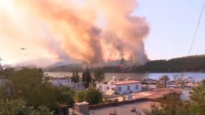 Лесные пожары в Турции не сократили турпоток из России