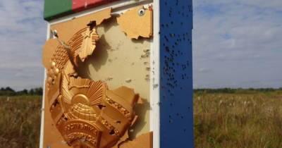 """""""Пострадал"""" пограничный знак: в Беларуси заявили об обстреле с территории Украины"""