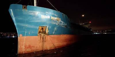 В проливе Босфор российский сухогруз столкнулся с турецким